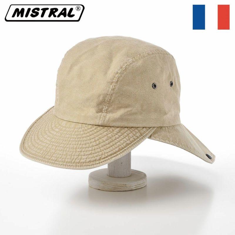 帽子 キャップ Mistral(ミストラル) COTTON HAVELOCK CAP(コットン ハブロック キャップ)MI1610 ベージュ