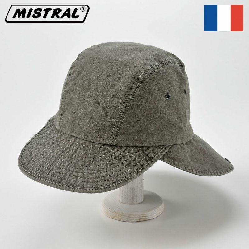 帽子 キャップ Mistral(ミストラル) COTTON HAVELOCK CAP(コットン ハブロック キャップ)MI1610 カーキ