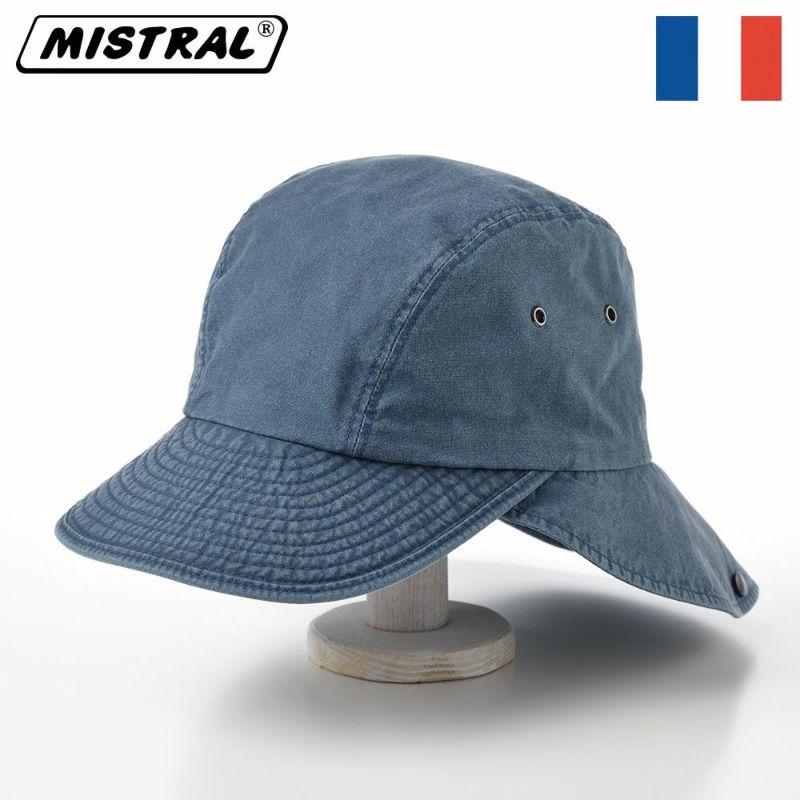 帽子 キャップ Mistral(ミストラル) COTTON HAVELOCK CAP(コットン ハブロック キャップ)MI1610 ネイビー