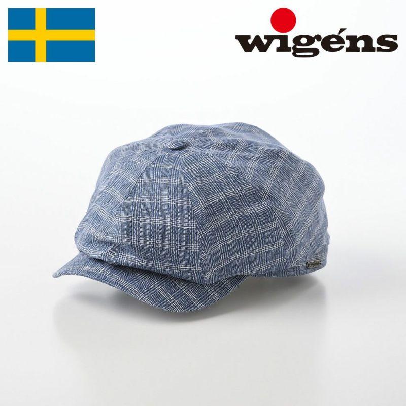 帽子 キャスケット Wigens(ヴィゲーンズ) Newsboy Classic Cap(ニュースボーイ クラシック キャップ)W101455 ブルー