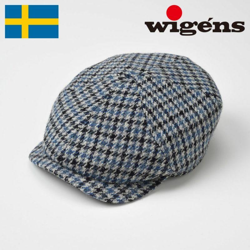 帽子 キャスケット Wigens(ヴィゲーンズ) Newsboy Slim Cap(ニュースボーイ スリム キャップ)W101021 ブルー