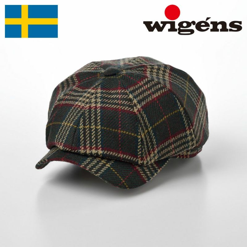 帽子 キャスケット Wigens(ヴィゲーンズ) Newsboy Classic Cap Subalpino(ニュースボーイ クラシックキャップ スバルピーノ)W101489 グリーン