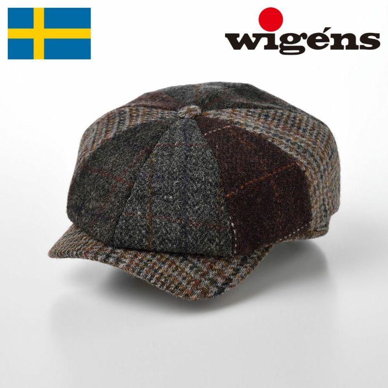 帽子 キャスケット Wigens(ヴィゲーンズ) Newsboy Classic Cap Harris Tweed(ニュースボーイ クラシックキャップ ハリスツイード)W101495 グレー