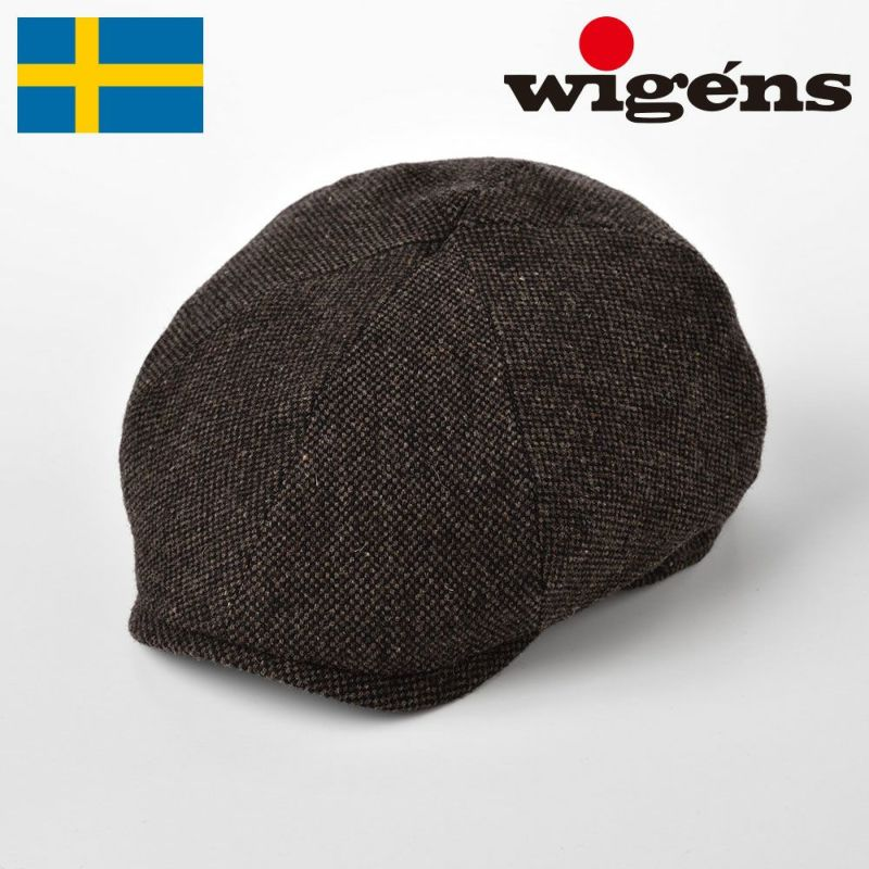 帽子 キャスケット Wigens(ヴィゲーンズ) Newsboy Contemporary Cap Donegal(ニュースボーイ コンテンポラリーキャップ ドネガル)W101349 ブラウン