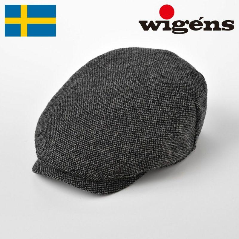帽子 ハンチング Wigens(ヴィゲーンズ) Ivy OnePiece Cap Donegal(アイビーワンピースキャップ ドネガル)W101347 ダークグレー