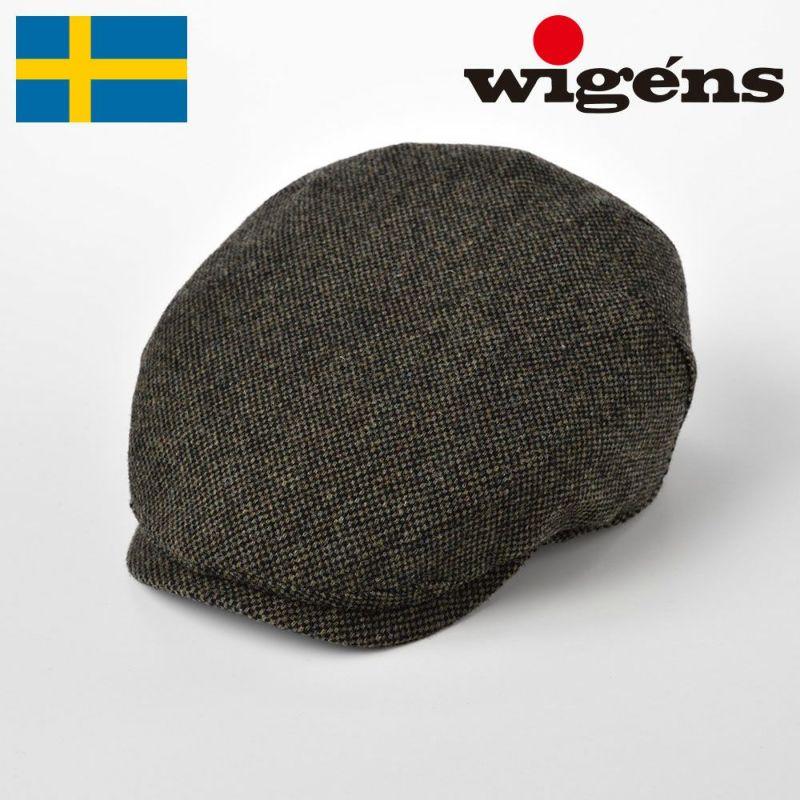 帽子 ハンチング Wigens(ヴィゲーンズ) Ivy OnePiece Cap Donegal(アイビーワンピースキャップ ドネガル)W101347 オリーブ