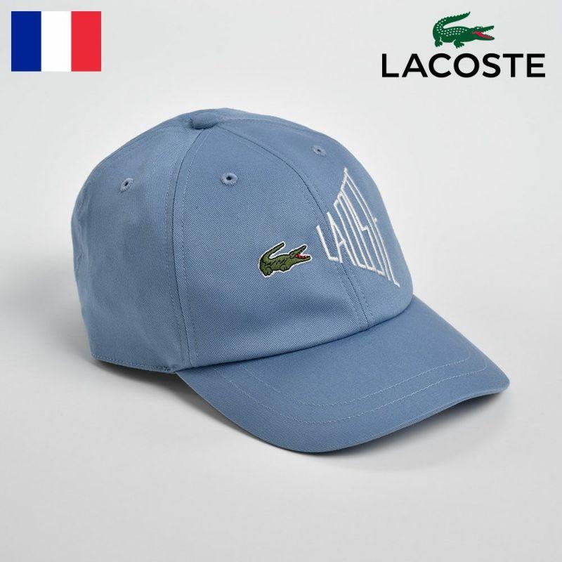 帽子 キャップ LACOSTE(ラコステ) COTTON 6PANEL CAP(コットン6パネルキャップ)L1033 ブルー
