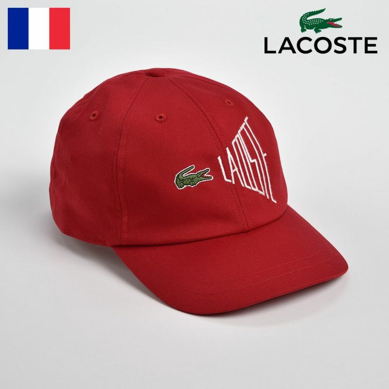 帽子 キャップ LACOSTE(ラコステ) COTTON 6PANEL CAP(コットン6パネルキャップ)L1033 レッド