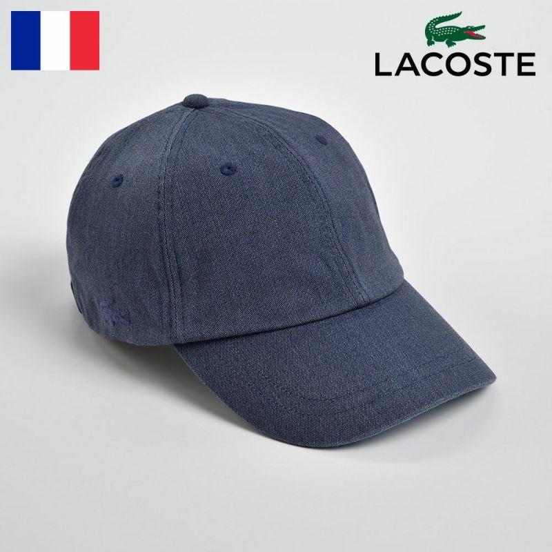 帽子 キャップ LACOSTE(ラコステ) VINTAGE OX CAP(ヴィンテージオックスキャップ)L1039 ブルー