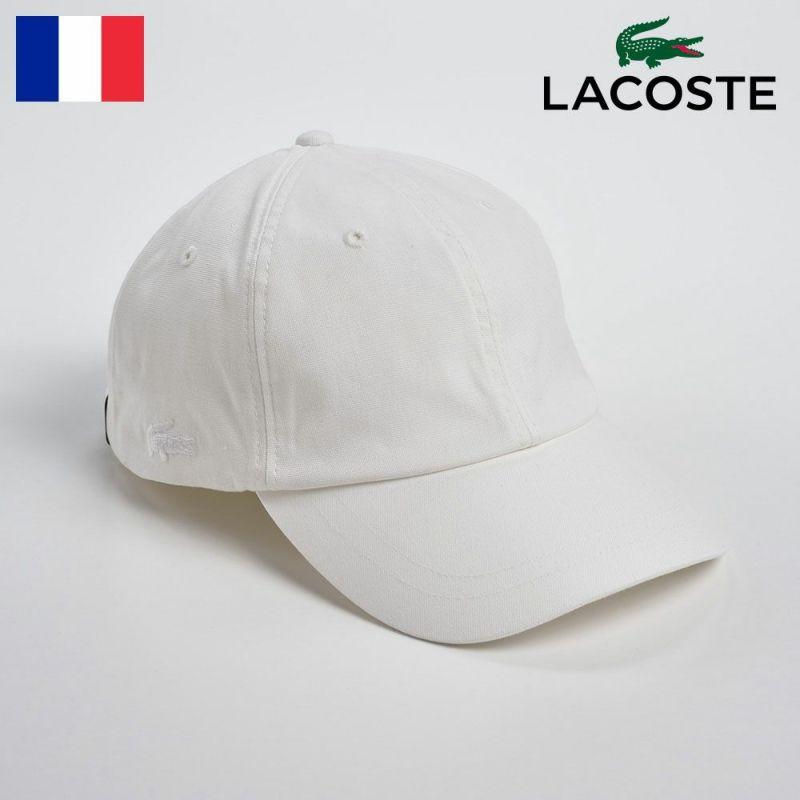 帽子 キャップ LACOSTE(ラコステ) VINTAGE OX CAP(ヴィンテージオックスキャップ)L1039 ホワイト
