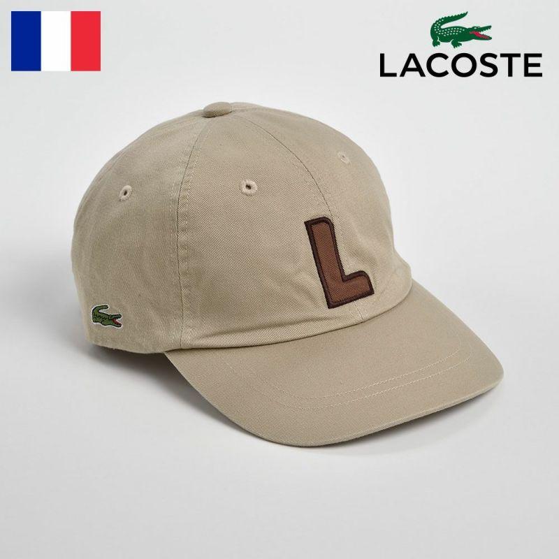 帽子 キャップ LACOSTE(ラコステ) COTTON 6PANEL INITIAL CAP(コットン 6パネル イニシャル キャップ)L1086 ベージュ