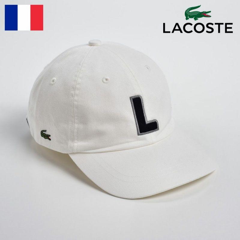 帽子 キャップ LACOSTE(ラコステ) COTTON 6PANEL INITIAL CAP(コットン 6パネル イニシャル キャップ)L1086 ホワイト