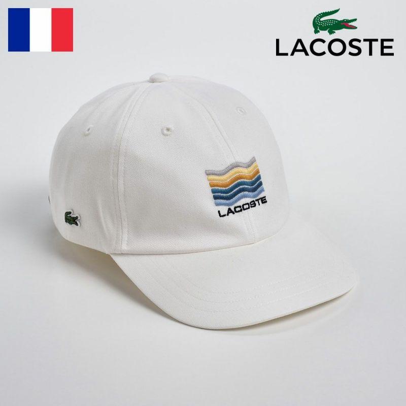 帽子 キャップ LACOSTE(ラコステ) Katsuragi COTTON CAP(カツラギ コットンキャップ)L1108 ホワイト