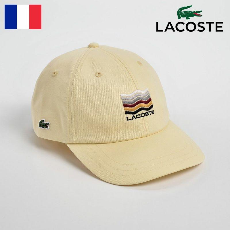 帽子 キャップ LACOSTE(ラコステ) Katsuragi COTTON CAP(カツラギ コットンキャップ)L1108 イエロー
