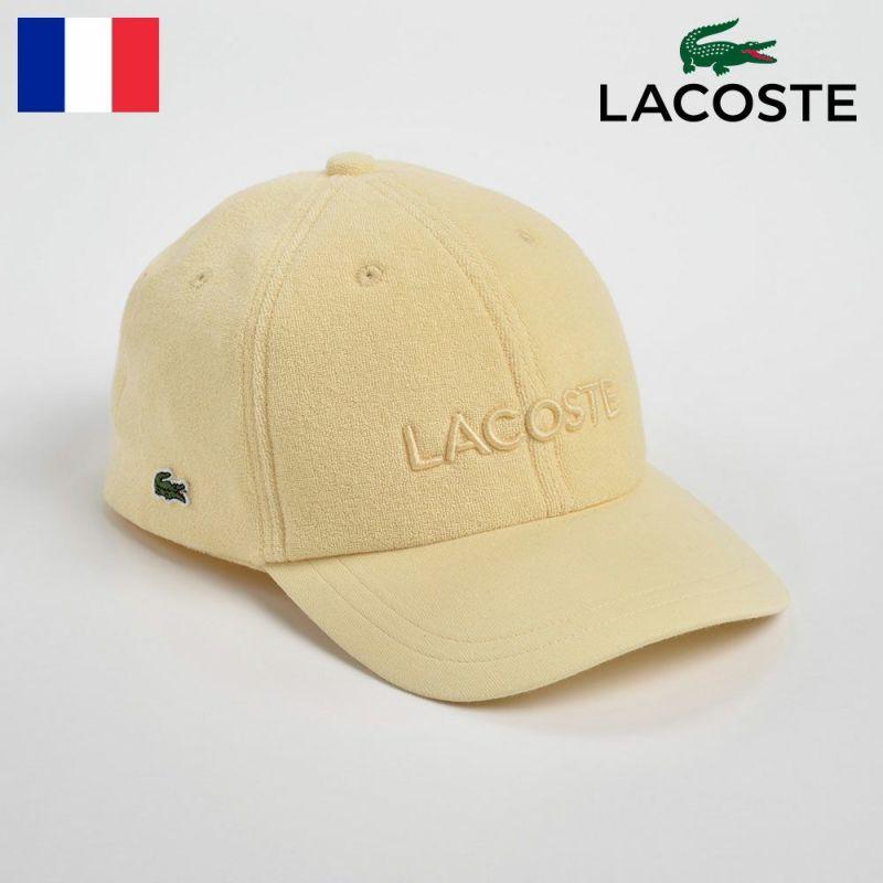 帽子 キャップ LACOSTE(ラコステ) PILE JERSEY CAP(パイルジャージーキャップ)L1112 イエロー