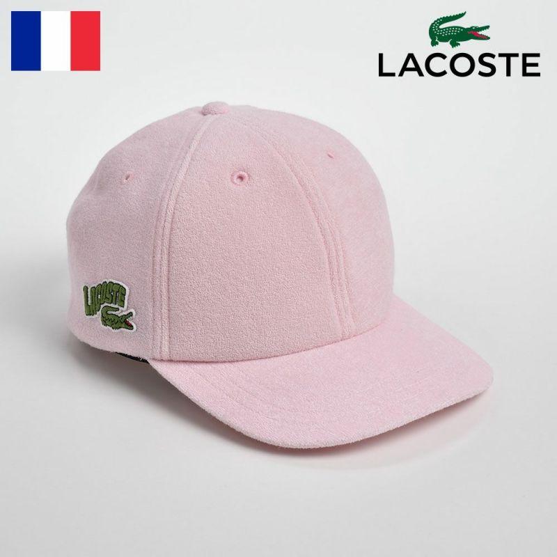 帽子 キャップ LACOSTE(ラコステ) PILE 6PANEL CAP(パイル 6パネルキャップ)L1138 ピンク