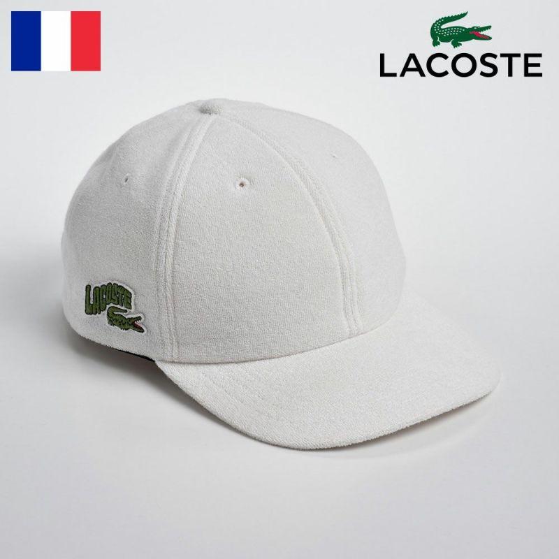 帽子 キャップ LACOSTE(ラコステ) PILE 6PANEL CAP(パイル 6パネルキャップ)L1138 ホワイト