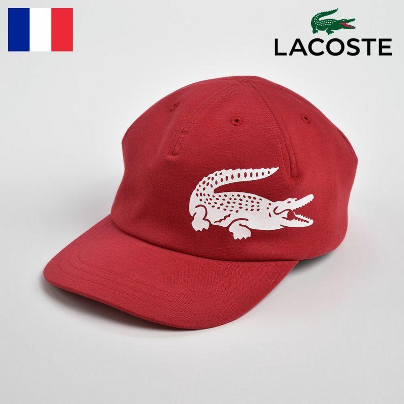 帽子 キャップ LACOSTE(ラコステ) BIG-LOGO CAP(ビッグロゴキャップ)L1143 レッド