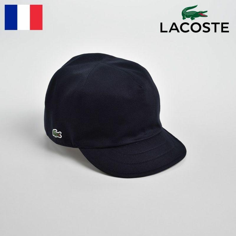 帽子 キャップ LACOSTE(ラコステ) COTTON REVERSIBLE CAP(コットン リバーシブルキャップ)L1145 ネイビー