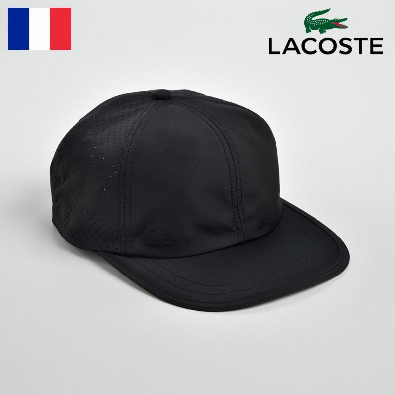 帽子 キャップ LACOSTE(ラコステ) PUNCHING MESH CAP(パンチングメッシュキャップ)L1146 ブラック