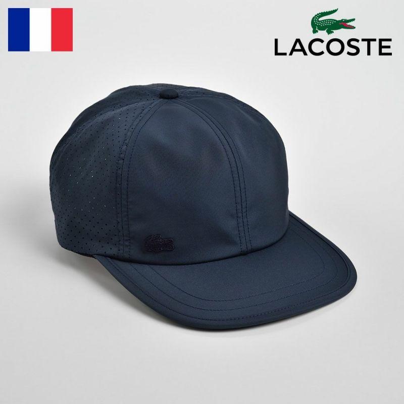 帽子 キャップ LACOSTE(ラコステ) PUNCHING MESH CAP(パンチングメッシュキャップ)L1146 ネイビー