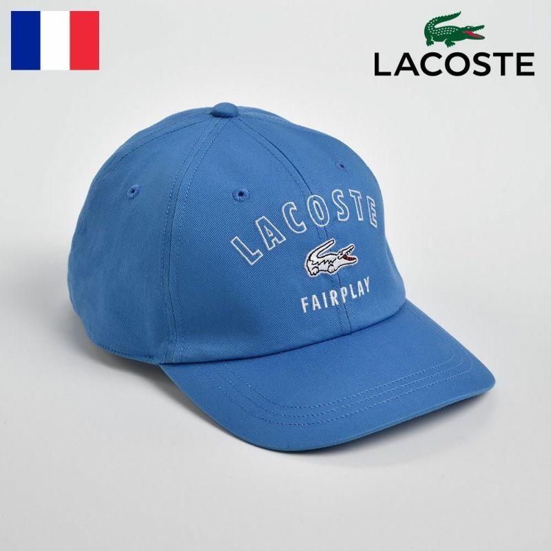 帽子 キャップ LACOSTE(ラコステ) COTTON 6PANEL CAP(コットン 6パネル キャップ)L3502 ブルー