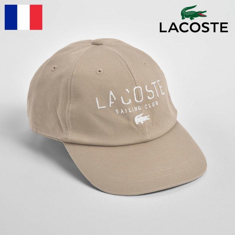 帽子 キャップ LACOSTE(ラコステ) COTTON 6PANEL CAP(コットン 6パネルキャップ)L3908 ベージュ
