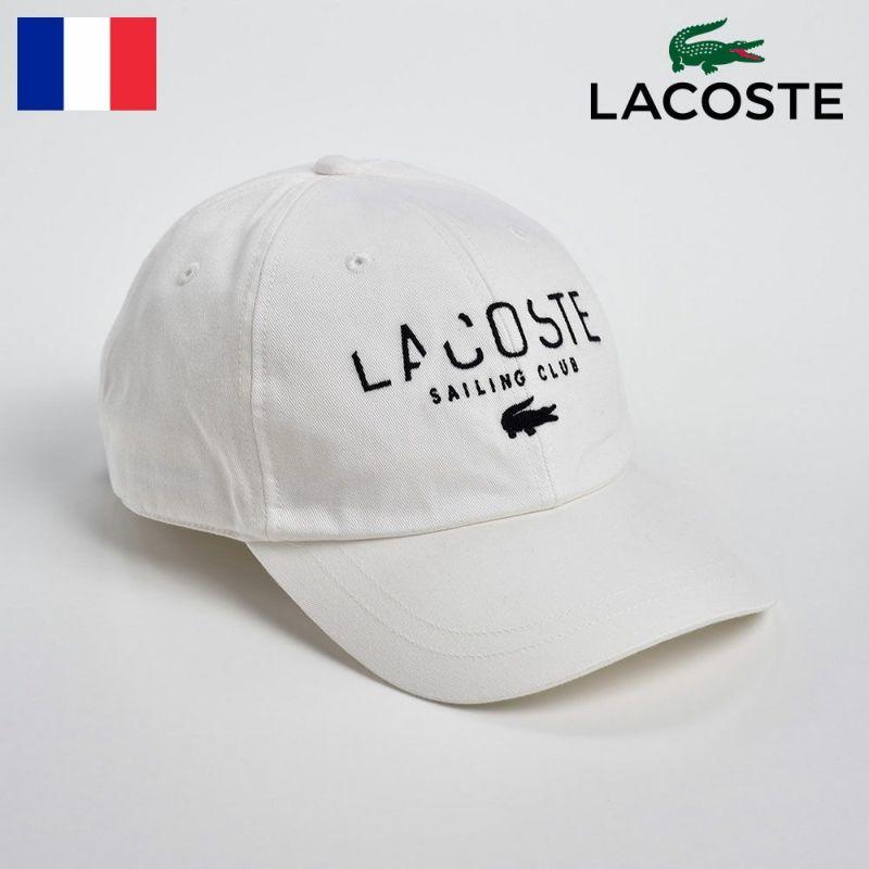 帽子 キャップ LACOSTE(ラコステ) COTTON 6PANEL CAP(コットン 6パネルキャップ)L3908 オフホワイト