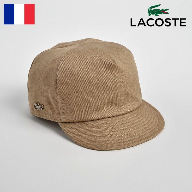 帽子 キャップ LACOSTE(ラコステ) COTTON SHORT VISOR CAP(コットンショートバイザーキャップ)L7044 ベージュ