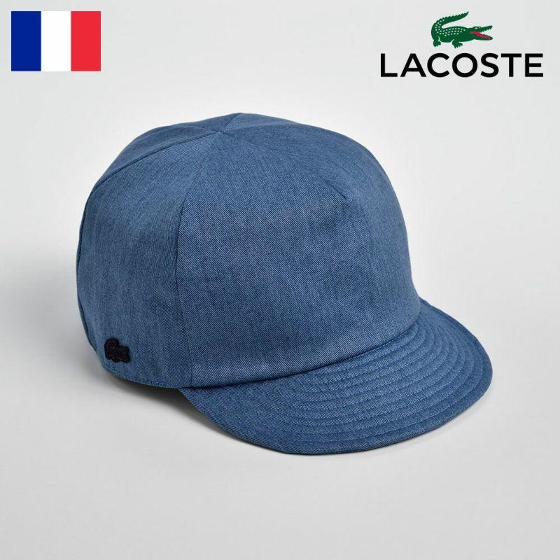 帽子 キャップ LACOSTE(ラコステ) COTTON SHORT VISOR CAP(コットンショートバイザーキャップ)L7044 ブルー