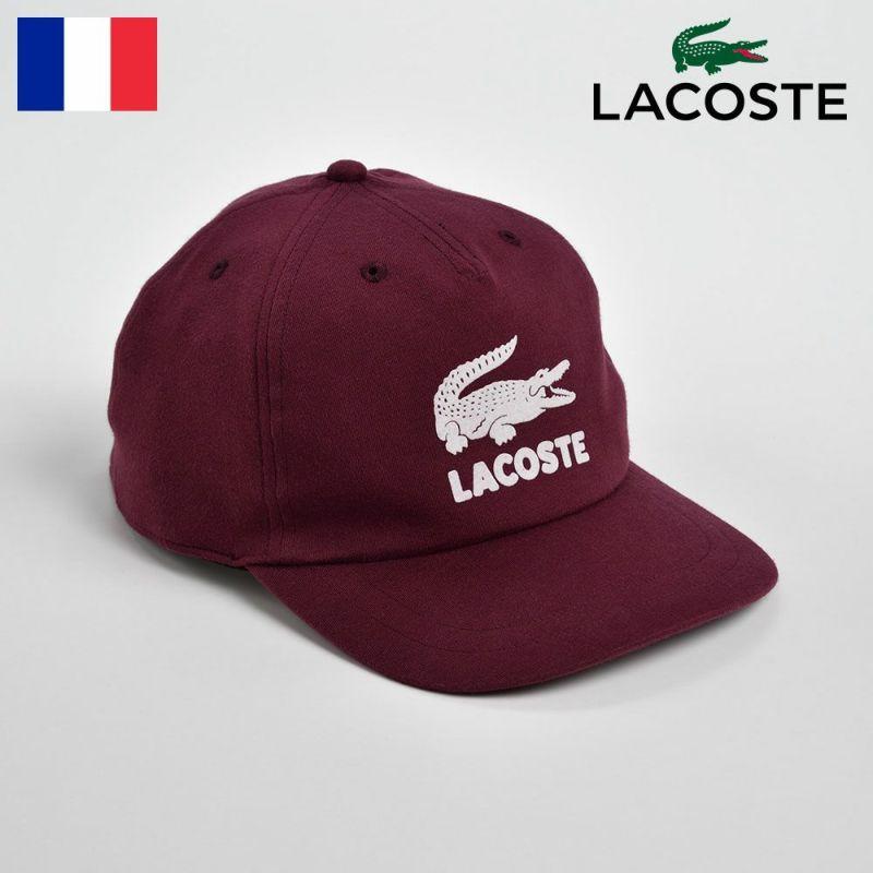 帽子 キャップ LACOSTE(ラコステ) FLOCKEY PRINT CAP(フロッキープリントキャップ)L7067 ワイン