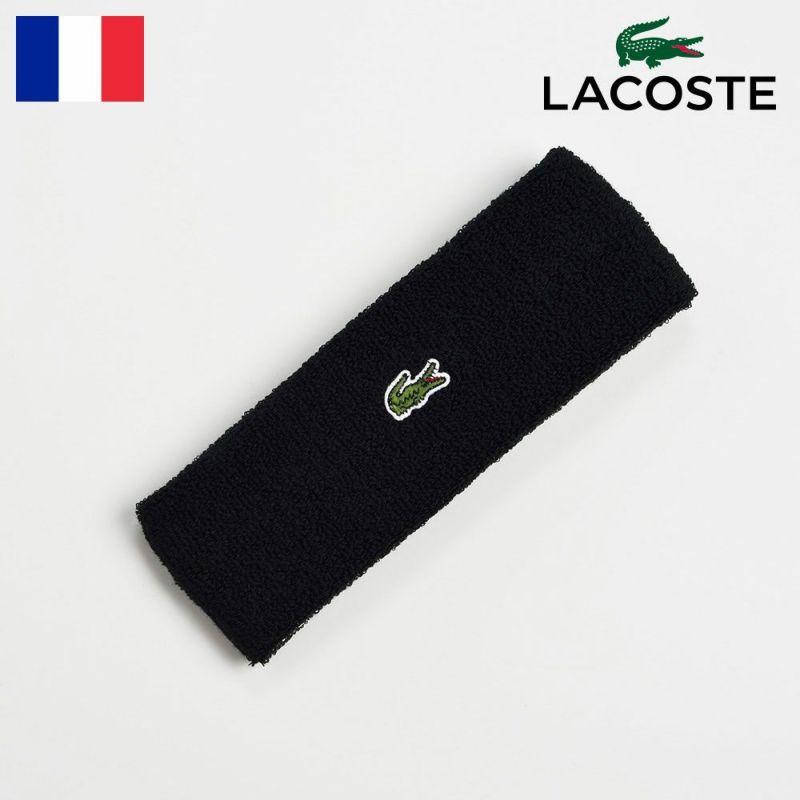 ヘアバンド LACOSTE(ラコステ) COOL MAX HAIR BAND(クールマックス ヘアバンド)L7070 ブラック