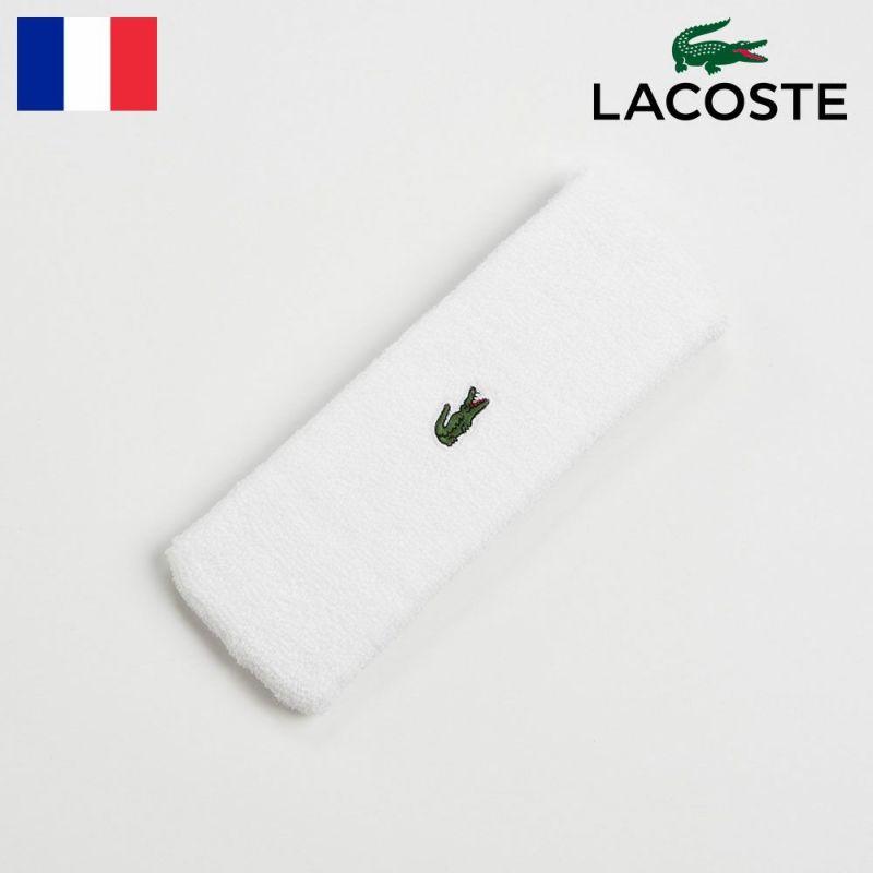 ヘアバンド LACOSTE(ラコステ) COOL MAX HAIR BAND(クールマックス ヘアバンド)L7070 ホワイト