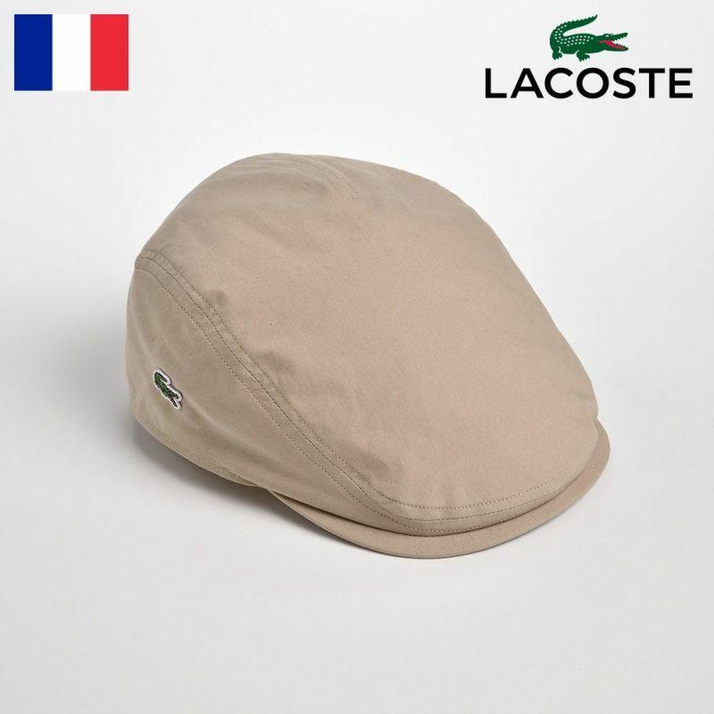 帽子 ハンチング LACOSTE(ラコステ) COTTON TYPEWRITER HUNTING(コットンタイプライターハンチング)L1050 ベージュ