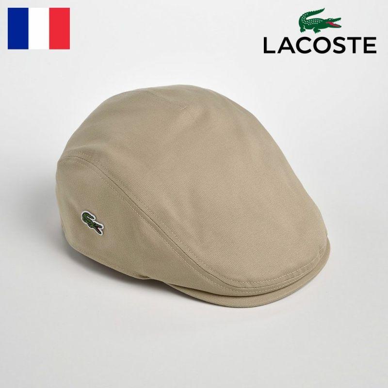 帽子 ハンチング LACOSTE(ラコステ) Katsuragi COTTON HUNTING(カツラギ コットンハンチング)L1130 ベージュ