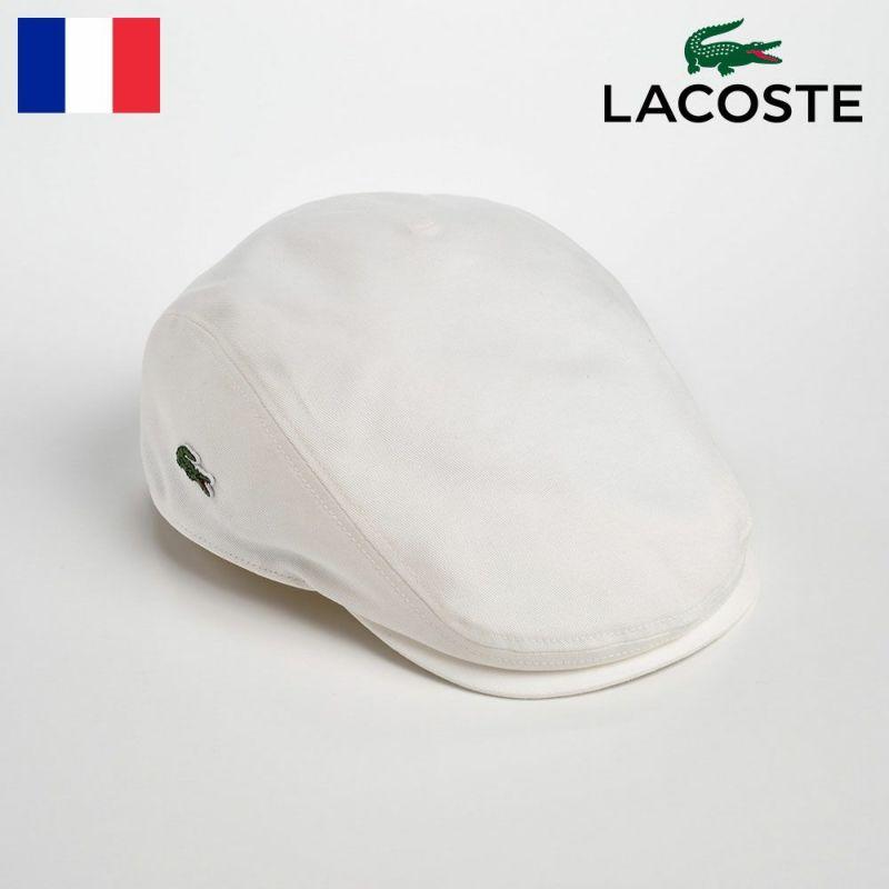 帽子 ハンチング LACOSTE(ラコステ) Katsuragi COTTON HUNTING(カツラギ コットンハンチング)L1130 ホワイト