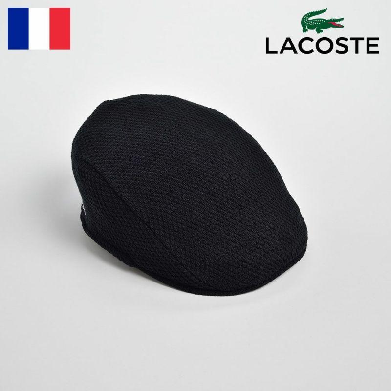 帽子 ハンチング LACOSTE(ラコステ) KINT HUNTING(ニット ハンチング)L1142 ブラック