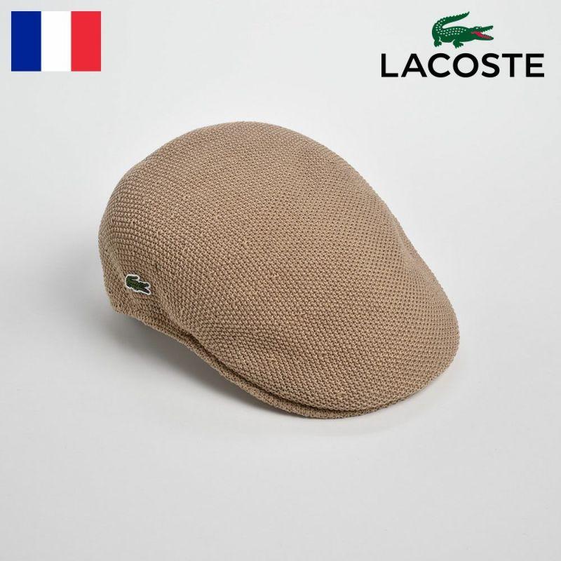 帽子 ハンチング LACOSTE(ラコステ) THERMO KNIT HUNTING(サーモニットハンチング)L3522 ベージュ