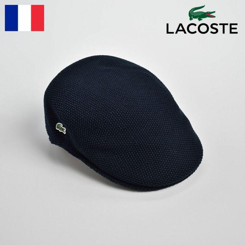帽子 ハンチング LACOSTE(ラコステ) THERMO KNIT HUNTING(サーモニットハンチング)L3522 ネイビー