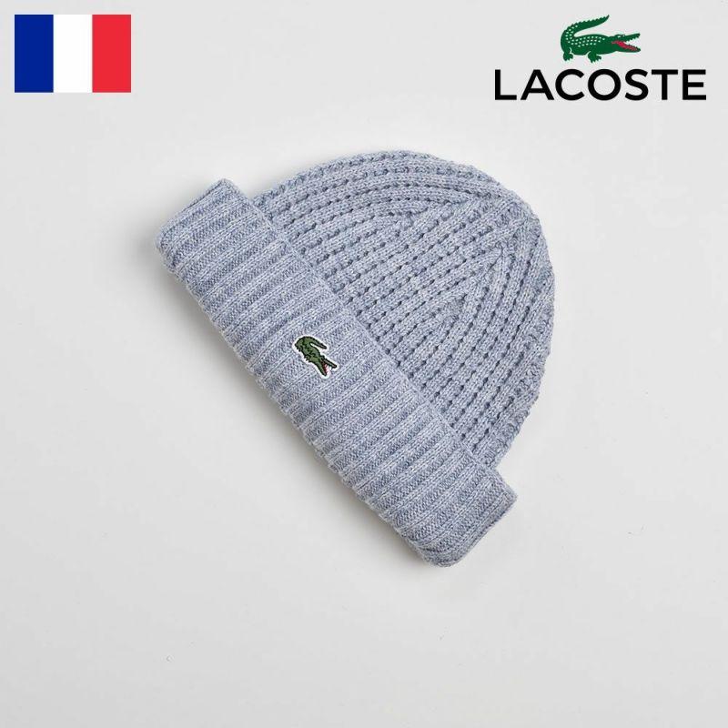 帽子 ニット LACOSTE(ラコステ) COTTON SHORT KNIT WATCH (コットンショートニットワッチ)L1100 ブルー