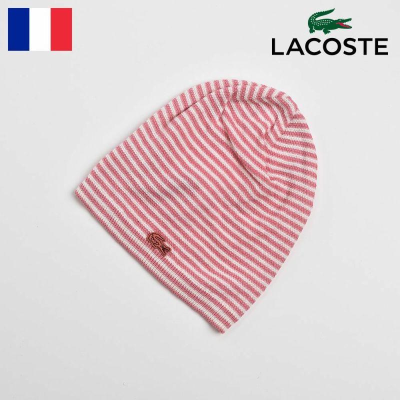 帽子 ニット LACOSTE(ラコステ) COTTON SILK WATCH(コットンシルクワッチ)L7019 ピンク