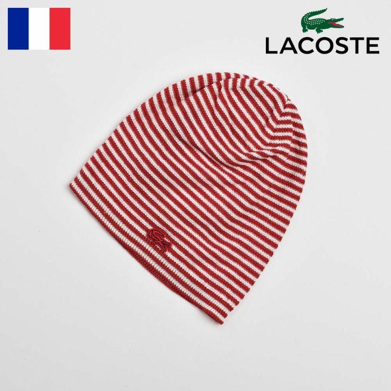 帽子 ニット LACOSTE(ラコステ) COTTON SILK WATCH(コットンシルクワッチ)L7019 レッド