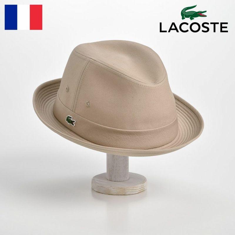 帽子 ハット LACOSTE(ラコステ) MANISH COTTON TYPEWRITER HAT(マニッシュ コットンタイプライターハット)L1051 ベージュ