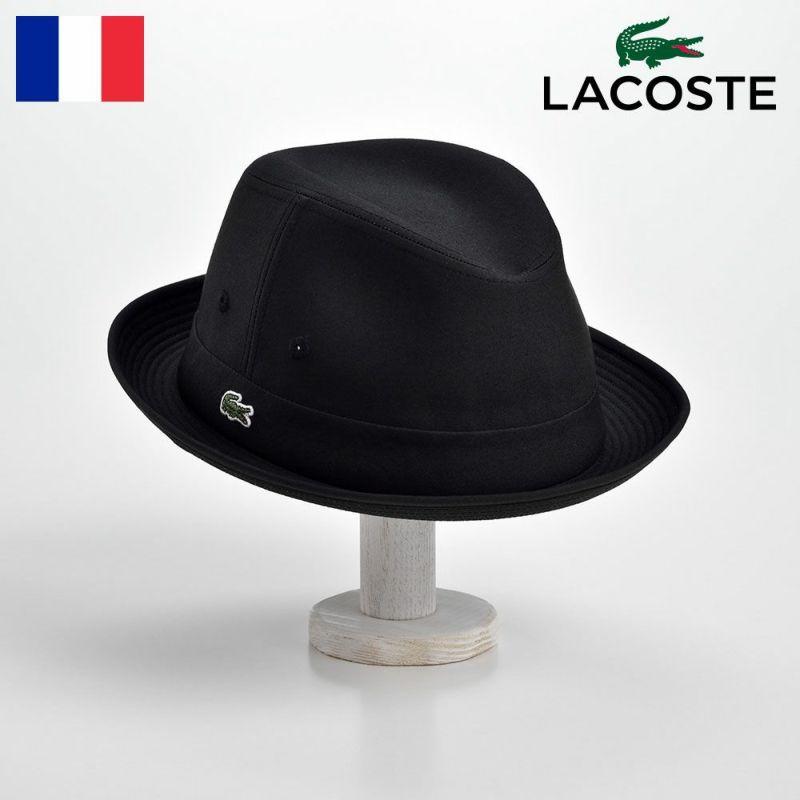 帽子 ハット LACOSTE(ラコステ) MANISH COTTON TYPEWRITER HAT(マニッシュ コットンタイプライターハット)L1051 ブラック