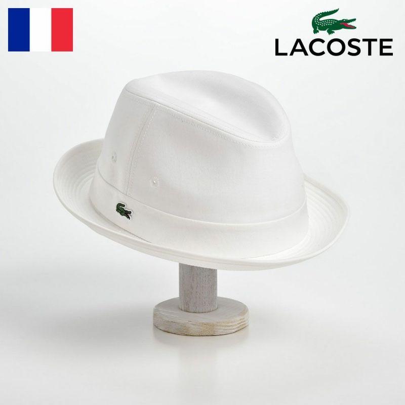 帽子 ハット LACOSTE(ラコステ) MANISH COTTON TYPEWRITER HAT(マニッシュ コットンタイプライターハット)L1051 ホワイト