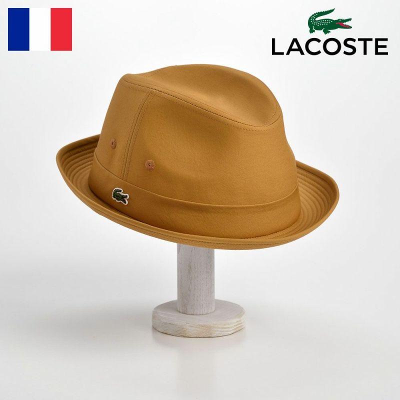 帽子 ハット LACOSTE(ラコステ) MANISH COTTON TYPEWRITER HAT(マニッシュ コットンタイプライターハット)L1051 イエロー