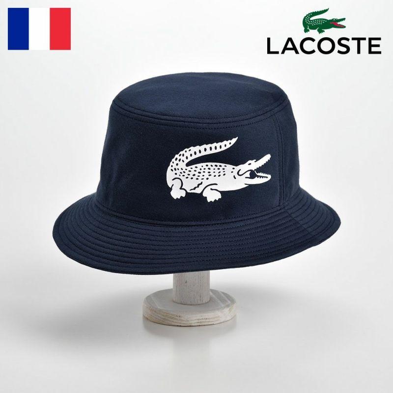 帽子 ハット LACOSTE(ラコステ) BIG-LOGO BUCKET HAT(ビッグロゴ バケットハット)L1144 ネイビー