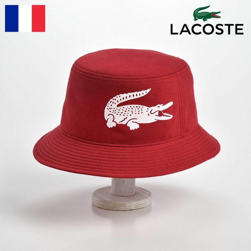 帽子 ハット LACOSTE(ラコステ) BIG-LOGO BUCKET HAT(ビッグロゴ バケットハット)L1144 レッド