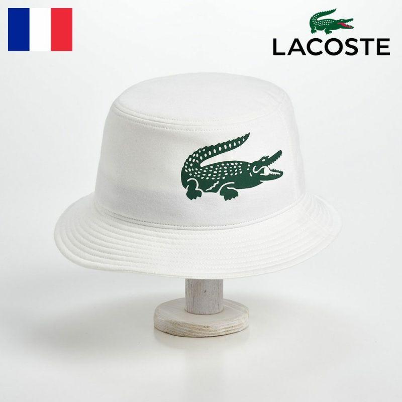 帽子 ハット LACOSTE(ラコステ) BIG-LOGO BUCKET HAT(ビッグロゴ バケットハット)L1144 ホワイト