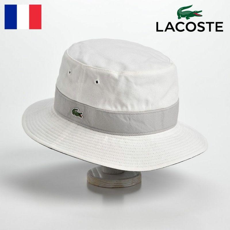 帽子 ハット LACOSTE(ラコステ) COTTON REVERSIBLE SAFARI(コットン リバーシブルサファリ)L3481 ホワイト